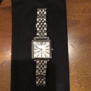 Marc Jacobs square silver watch. Great condition!